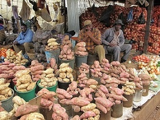 A market in Harare