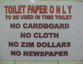 No Zim Dollars sign