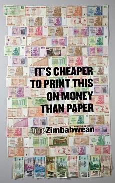 Zimbabwe paper money